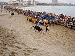 Fiestas Patronales de Peñíscola (Septiembre). Vaquillas en la playa