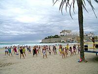 ¡Zumba y aerobic en la playa!